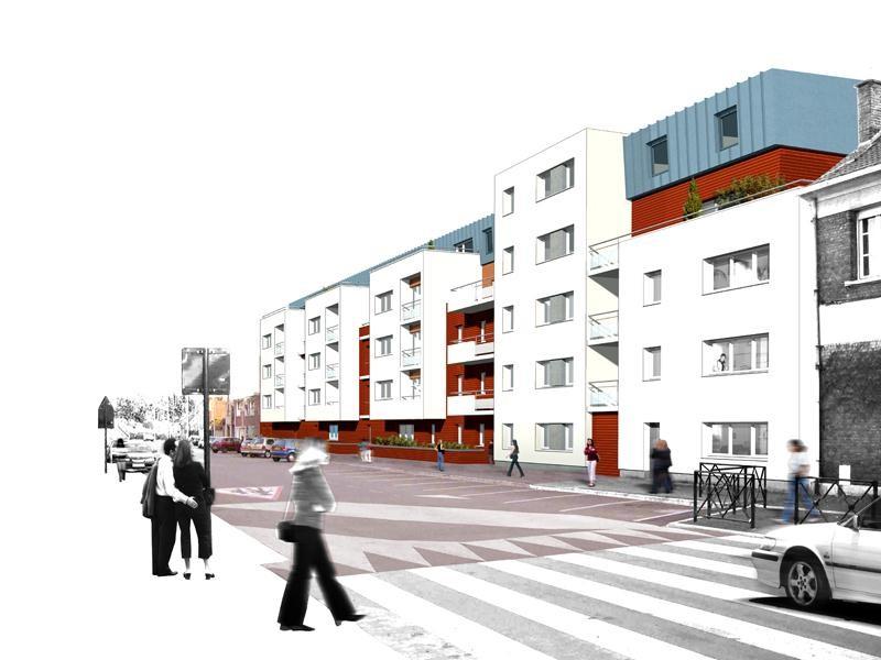 Perspective depuis le boulevard du Marais